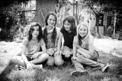Photograph of four children in Pasadena