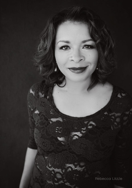 African American woman black and white portrait Los Angeles Rebecca Little Photography Pasadena CA
