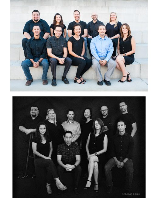 Group photos for websites small business owners in Pasadena Rebeca Little Photography